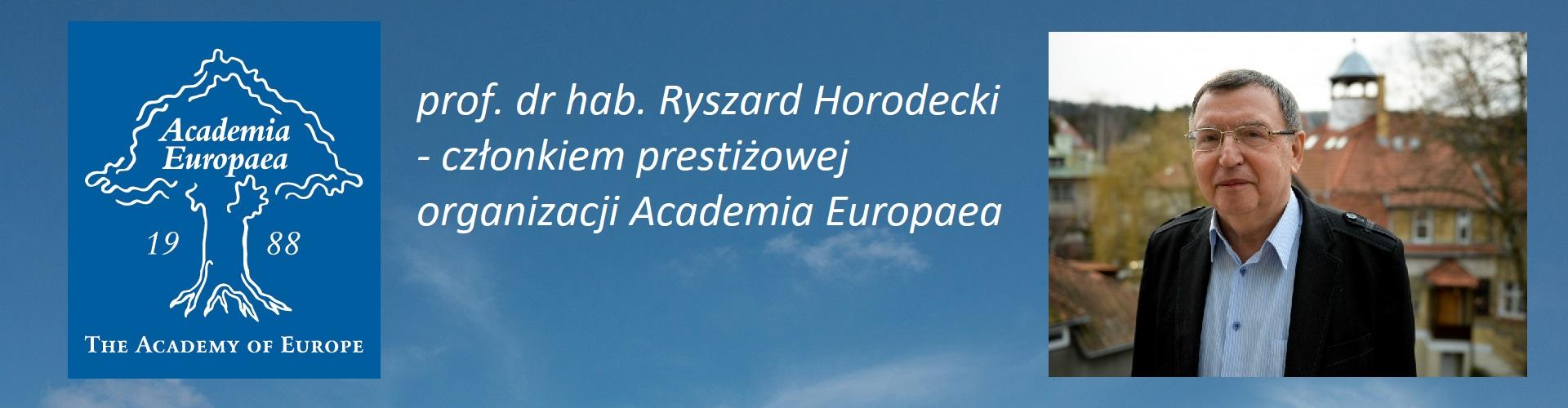 Zaszczytna funkcja dla prof. R. Horodeckiego